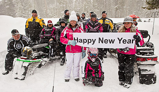 Snowmobile New Years 2013