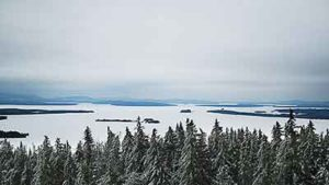 Snowmobile Kokadjo on Moosehead Lake