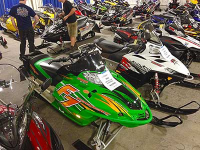 Used Arctic Cat and Polaris snowmobiles