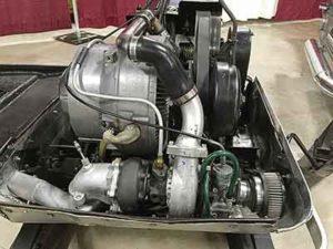 Vintage wankel snowmobile engine