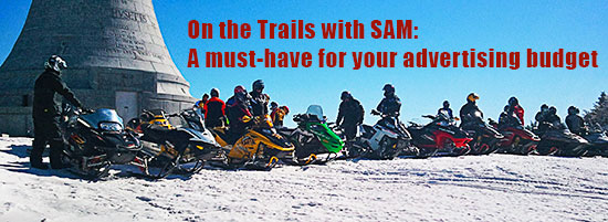 advertise at On The Trails with SAM snowmobile magazine and sledmass.com