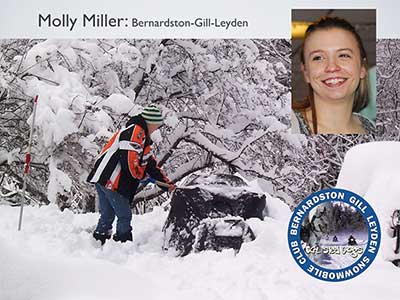 Molly Miller snowmobiling