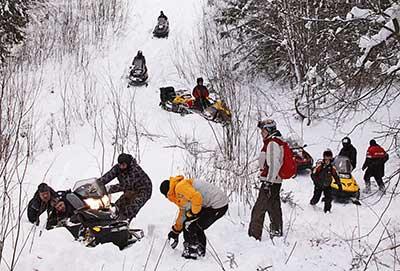 russian snowmobile trip
