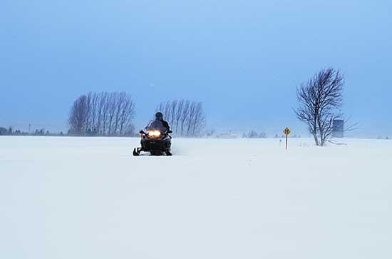 Quebec snowmobile trip