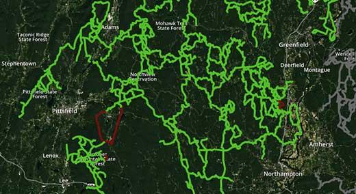 SAM interactive trail map